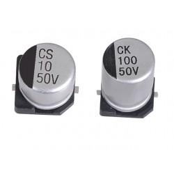 Kondensator elektrolityczny SMD niskoimpedancyjny, 10uF, 25V, 2000h, 4x5.4mm, -55+105, JB