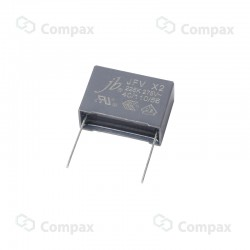 Kondensator polipropylenowy metalizowany THT, X2, 100nF, 275V AC, -40+110, 18x12mm, 15mm, JB
