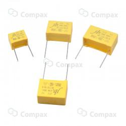 Kondensator polipropylenowy metalizowany THT, X2, 100nF, 310V AC, -40+110, 18x12mm, 15mm, JB