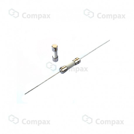 Bezpiecznik ceramiczny THT, 5x20mm, zwłoczny, 15A, 250V AC, EC