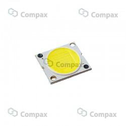 LED mocy COB, 5W, Biały ciepły, 3000K, 120°, 490-570lm, 13.5x13.5mm, LuckyLight