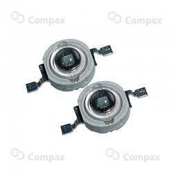 Dioda mocy LED, 1W, Biały ciepły (Warm White), 80-140lm, 135°, LuckyLight