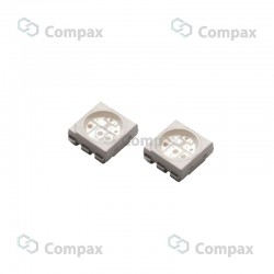 Dioda LED SMD, Biały zimny (White), 18-20lm, 120°, PLCC-6, LuckyLight