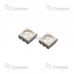 Dioda LED SMD, Niebieski, 800-1200mcd, 120°, PLCC-6, LuckyLight