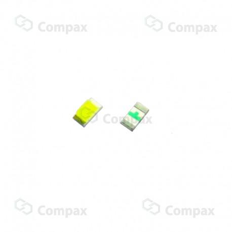 Dioda LED SMD, 0603, Żółto-Zielony, 70mcd, 140°, 1.6x0.8x0.7 mm, Refond
