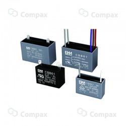 Kondensator silnikowy, 6uF, 250 V AC, 5%, 37x16x22.5xmm, -25 +70°C, konektory , BM
