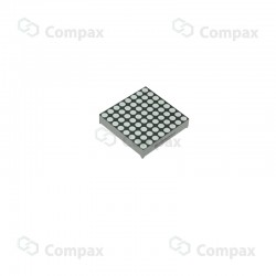 Wyświetlacz LED, matryca, 8x8, Niebieski (Ultra Blue), 47.80x47.80mm, 470nm, 270mcd, anoda, Betlux