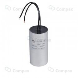 Kondensator silnikowy, 3uF, 450 V AC, 5%, 25x57mm, -40 +70°C, przewody, EMF