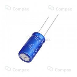 Kondensator elektrolityczny THT niskoimpedancyjny, 56uF, 50V, 2000h, 6x12mm, -55+105, JB