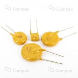 Bezpiecznik polimerowy PTC THT, 0.080A/250V, 6.5x12x3.8mm, ETE