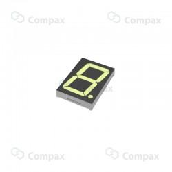 Wyświetlacz LED THT, 7-SEG, pojedynczy, 2.3 cal, Żółty (Ultra Yellow), 590nm, 170mcd, anoda, Betlux