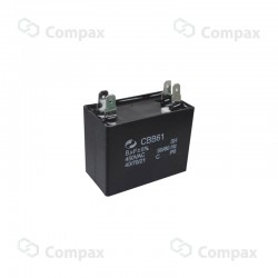 Kondensator silnikowy, 1.5uF, 450 V AC, 5%, 32x25x13mm, -40 +70°C, konektory , EMF