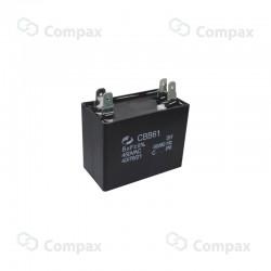 Kondensator silnikowy, 8uF, 450 V AC, 5%, 37x41x26mm, -40 +70°C, konektory , EMF