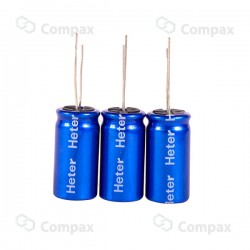 Superkondensator elektrolityczny THT, 2F, 2.7V, 8x20.1mm, -25°C +70°C, HETER