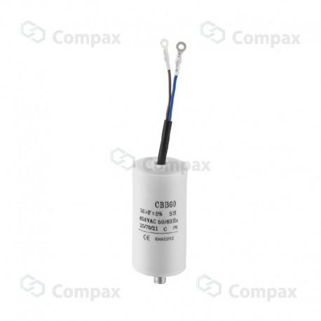 Kondensator silnikowy, 2uF, 450 V AC, 5%, 30x60mm, -25 +70°C, konektory 6.3mm, SR Passives