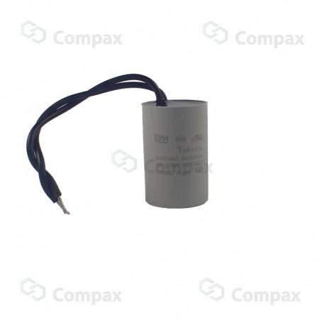 Kondensator silnikowy, 1.5uF, 450 V AC, 5%, 30x57mm, -25 +70°C, konektory 6.3mm, śruba montażowa M8, SR Passives
