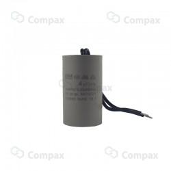 Kondensator silnikowy, 1uF, 450 V AC, 5%, 30x57mm, -25 +70°C, konektory 6.3mm, śruba montażowa M8, SR Passives
